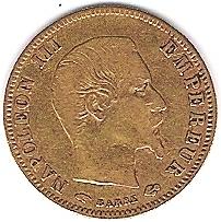 Napoléon III 5 FRANCS 1858 A OR Photo_19