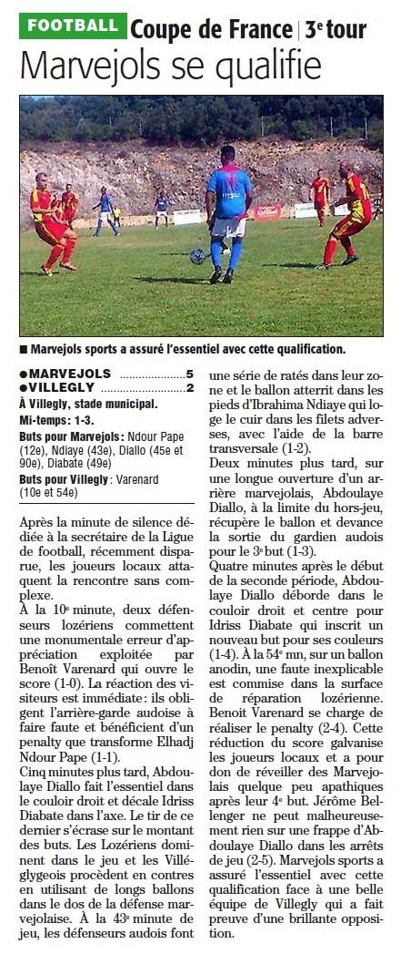 Coupe de France 3ème tour Cf310