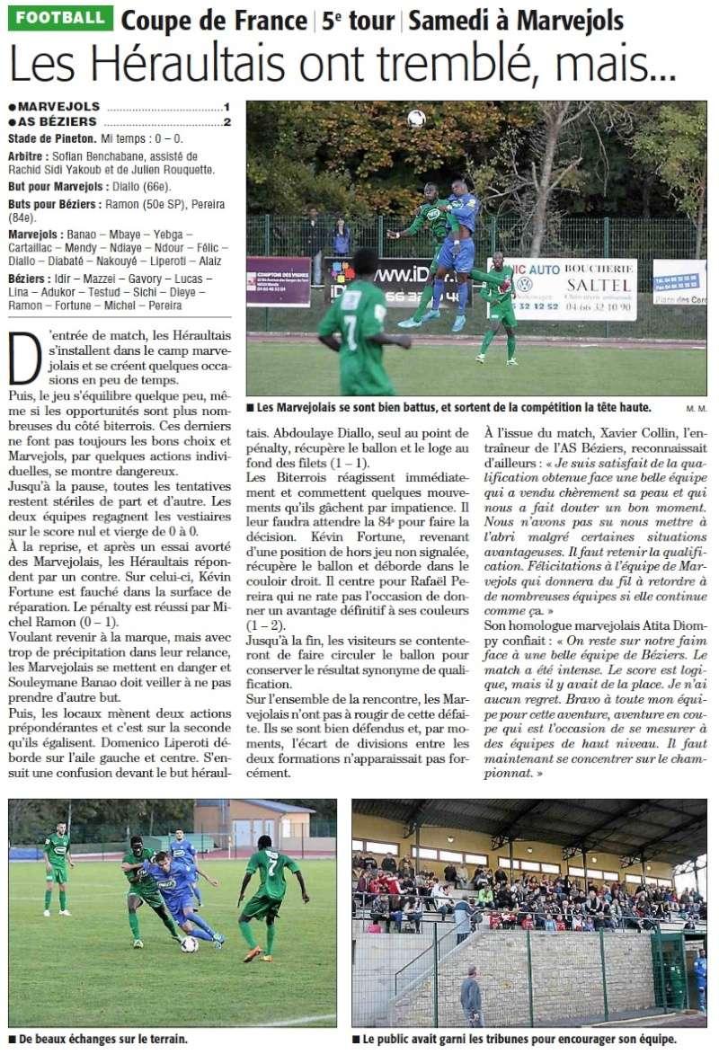 MARVEJOLS / AS Béziers (5ème tour Coupe de France) Cfmloz10