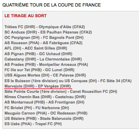 Le 4ème tour de la Coupe de France Coupe10