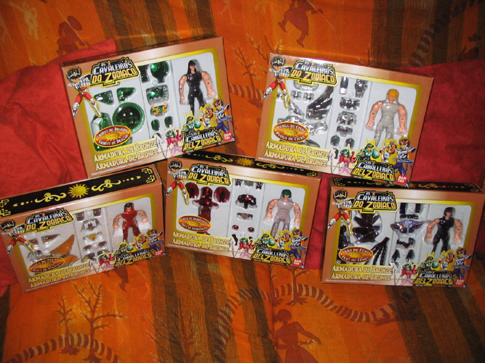 SAINT SEIYA (Bandai) 1987 et 2003: format Vintage (Die cast) Collec16