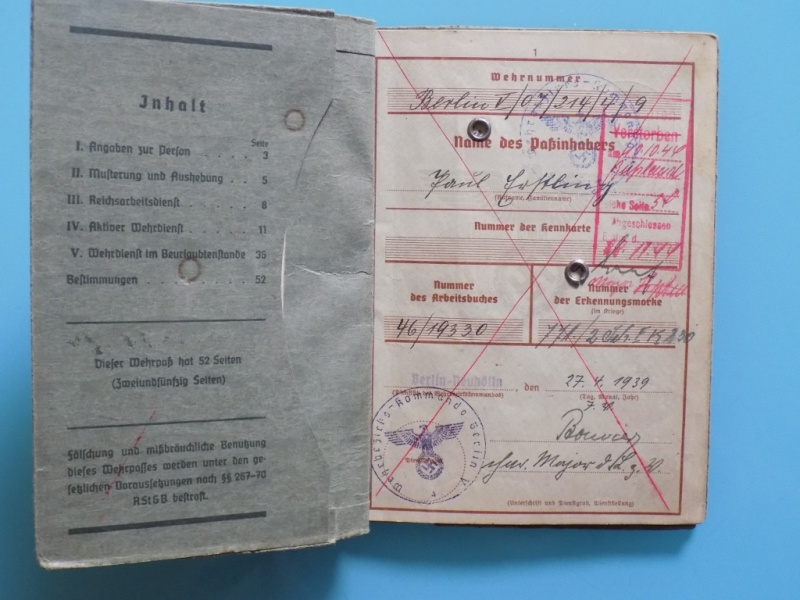 Vos livrets militaires allemands WWII (Soldbuch, Wehrpass..) / Heer-LW-KM-SS... - Page 2 Dscn3315