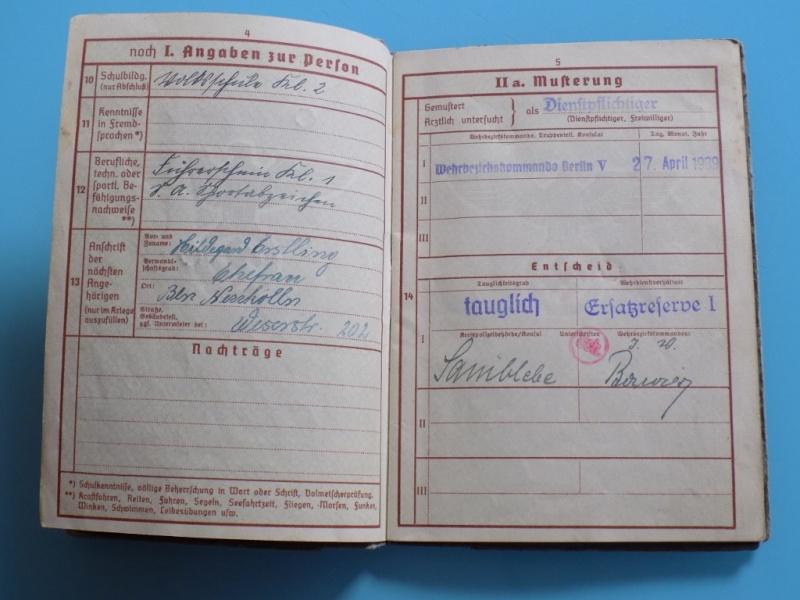 Vos livrets militaires allemands WWII (Soldbuch, Wehrpass..) / Heer-LW-KM-SS... - Page 2 Dscn3316