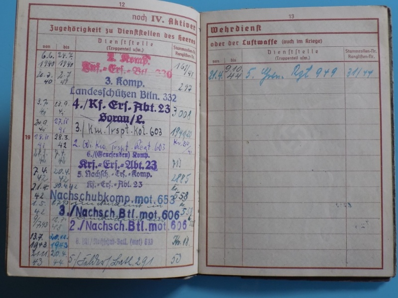 Vos livrets militaires allemands WWII (Soldbuch, Wehrpass..) / Heer-LW-KM-SS... - Page 2 Dscn3318