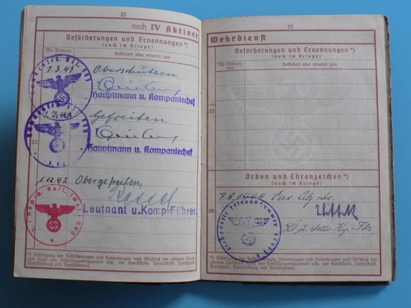 Vos livrets militaires allemands WWII (Soldbuch, Wehrpass..) / Heer-LW-KM-SS... - Page 2 Dscn3320