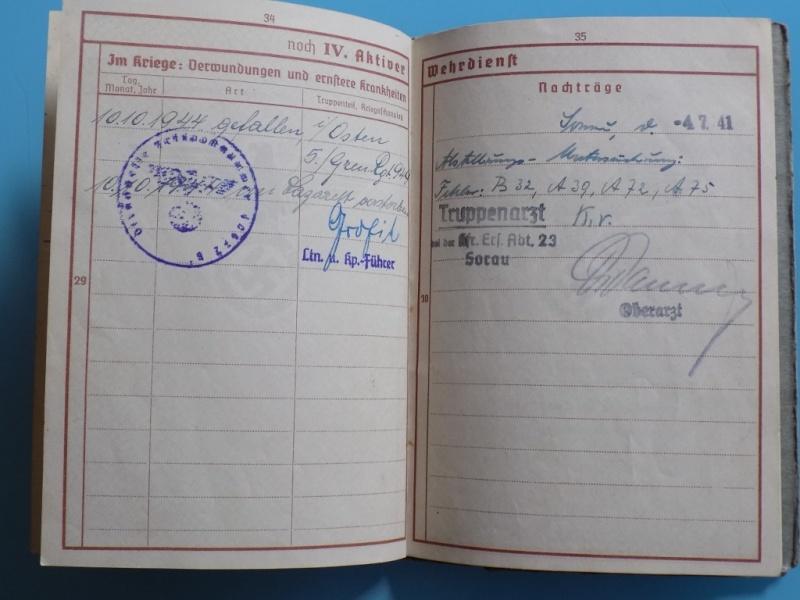 Vos livrets militaires allemands WWII (Soldbuch, Wehrpass..) / Heer-LW-KM-SS... - Page 2 Dscn3325