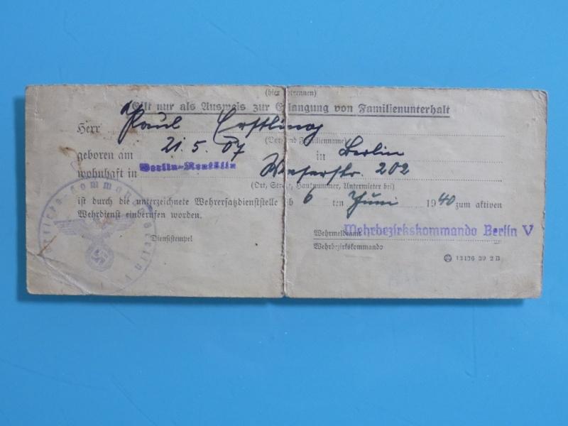 Vos livrets militaires allemands WWII (Soldbuch, Wehrpass..) / Heer-LW-KM-SS... - Page 2 Dscn3332