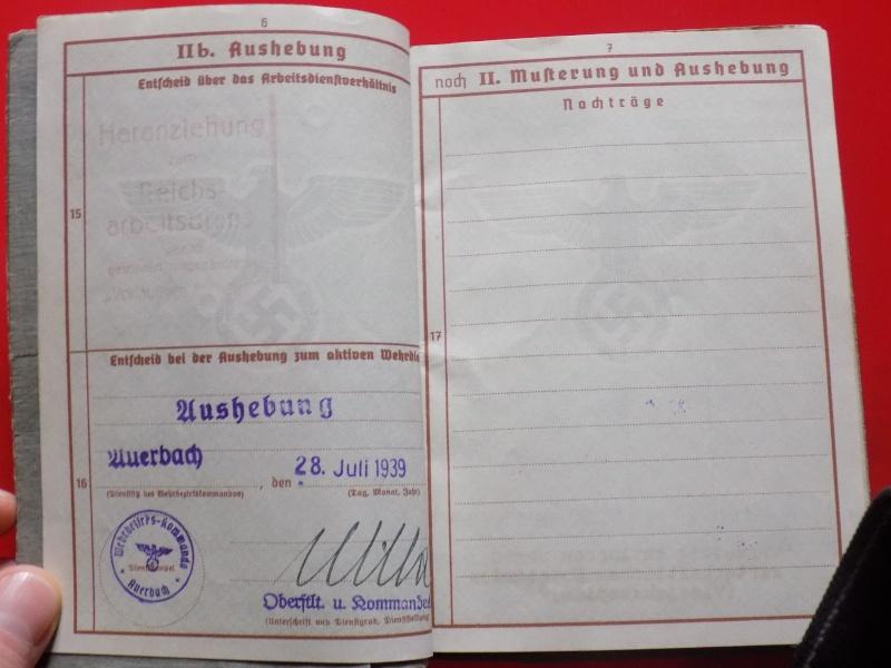 Vos livrets militaires allemands WWII (Soldbuch, Wehrpass..) / Heer-LW-KM-SS... - Page 2 Soldbu16