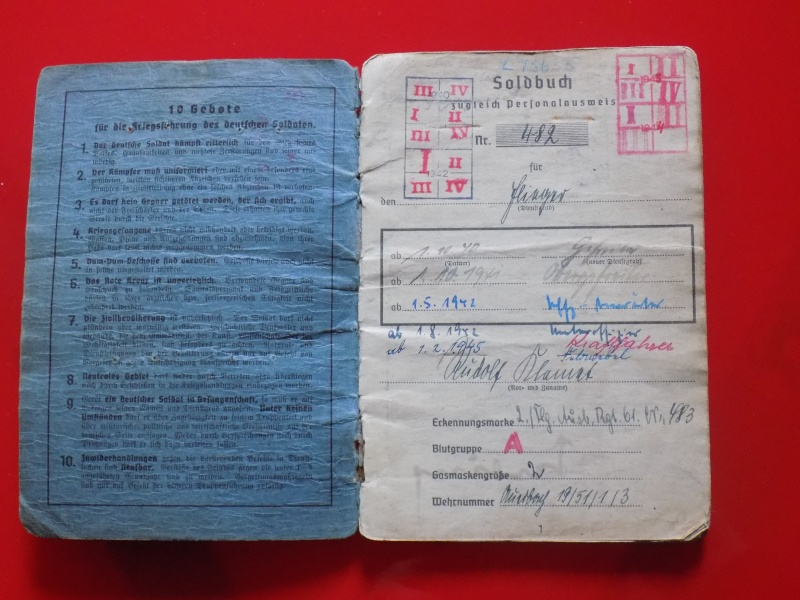 Vos livrets militaires allemands WWII (Soldbuch, Wehrpass..) / Heer-LW-KM-SS... - Page 2 Soldbu25