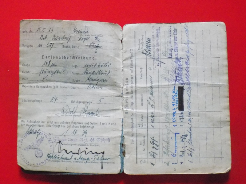 Vos livrets militaires allemands WWII (Soldbuch, Wehrpass..) / Heer-LW-KM-SS... - Page 2 Soldbu26