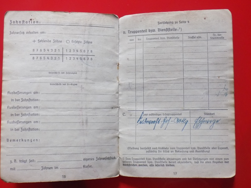 Vos livrets militaires allemands WWII (Soldbuch, Wehrpass..) / Heer-LW-KM-SS... - Page 2 Soldbu34