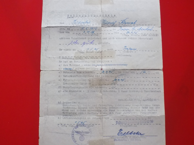 Vos livrets militaires allemands WWII (Soldbuch, Wehrpass..) / Heer-LW-KM-SS... - Page 2 Soldbu41
