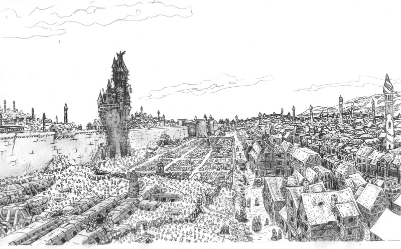 Vue large tour nécromanciens et description du quartier Necrop10