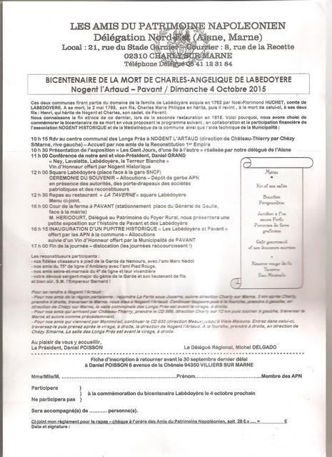 Bicentenaire de la mort de Labédoyère, 4.10.2015 Sortie10