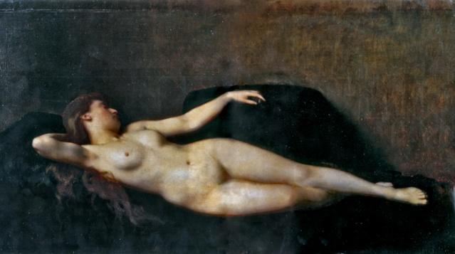 NUS EROTIQUES DE JEAN-JACQUES HENNER (1829-1905) Femme_10