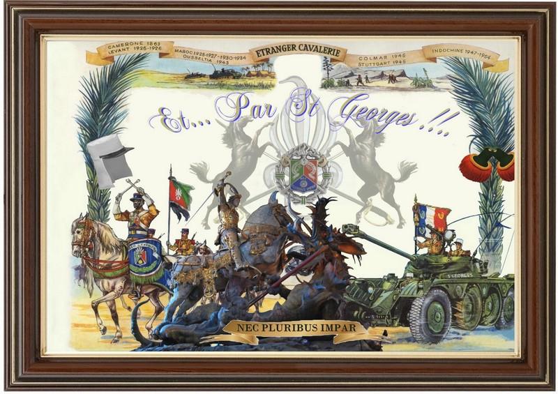 SAINT GEORGES ! SAINT PATRON DU 1 REC LEGION ETRANGERE 411