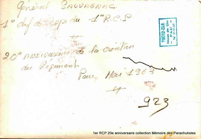 20e anniversaire de la création du 1er RCP Pau mai 1963 1-1er_10