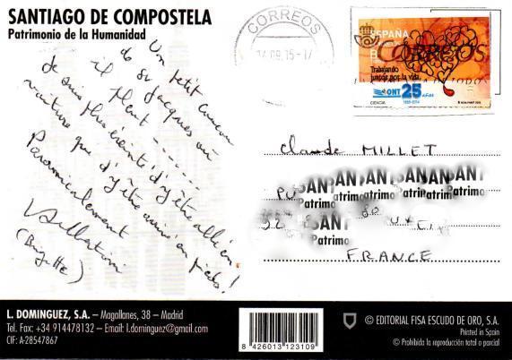 Brigitte a fait son 5e pèlerinage à Saint-Jacques de Compostelle (sur le camino) Santiago de Compostella Patrimonio de la Humanidad 1-brig10