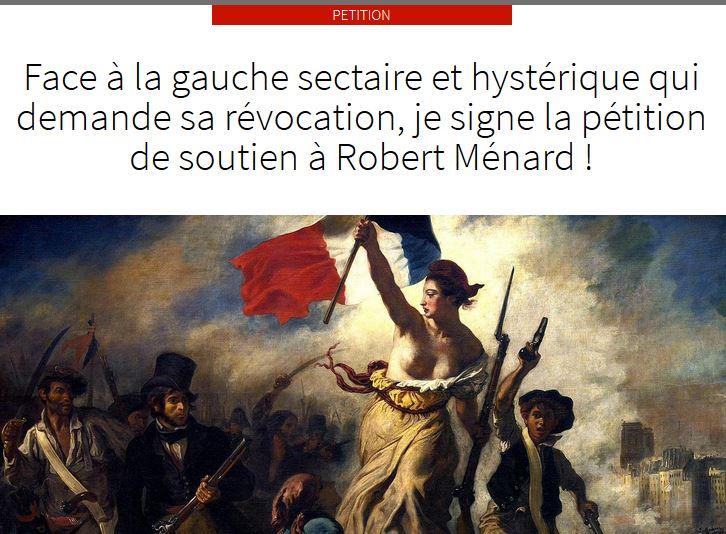 Face à la gauche sectaire et hystérique qui demande sa révocation, je signe la pétition de soutien à Robert Ménard   Menard10