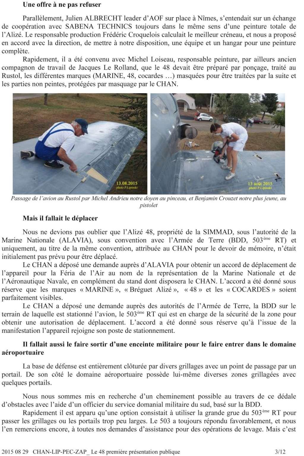 [Associations anciens marins] C.H.A.N.-Nîmes (Conservatoire Historique de l'Aéronavale-Nîmes) - Page 3 2015_012