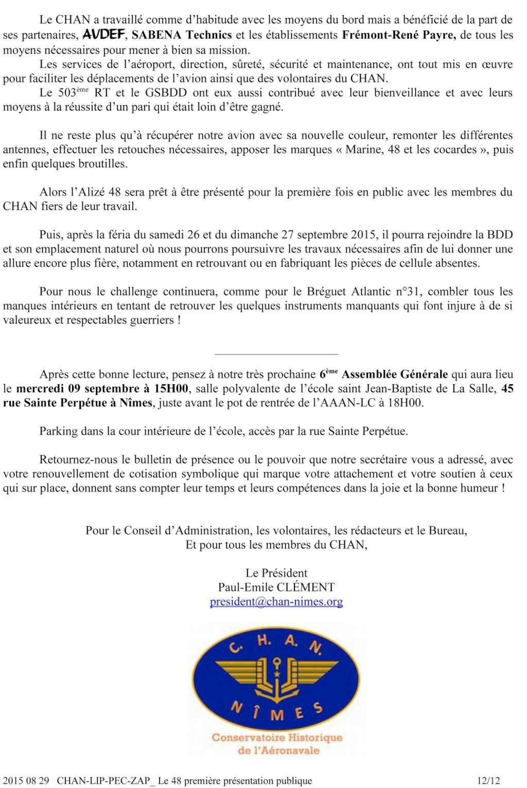 [Associations anciens marins] C.H.A.N.-Nîmes (Conservatoire Historique de l'Aéronavale-Nîmes) - Page 3 2015_021