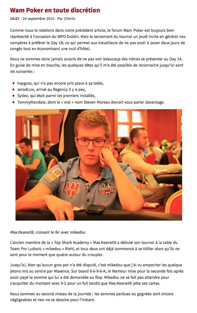 Winamax Poker Open 2015 à Dublin Captur10