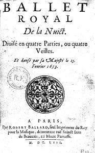 Ballet Royal de la Nuit, 1653 08898413