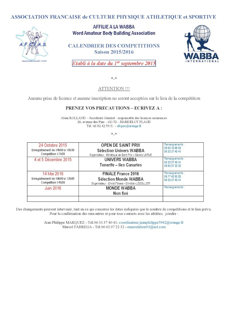 france - A.F.C.P.A.S / WABBA  - Page 8 Calend10
