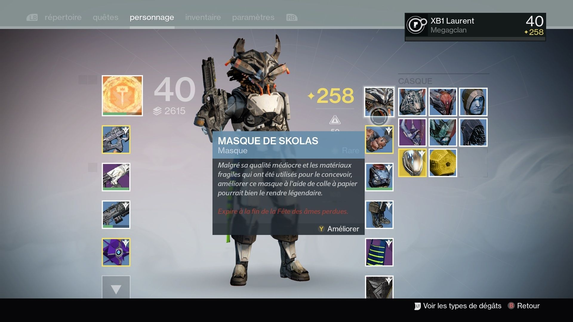 Destiny : Les masques ... Destin21