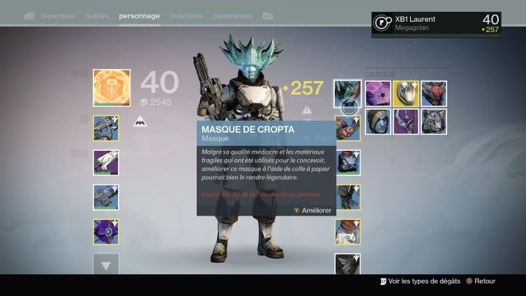 Destiny : Les masques ... Thumbn10