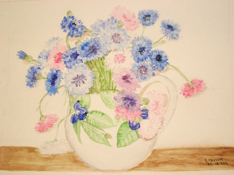 Bouquet de centaurées (aquarelle) Dsc07310