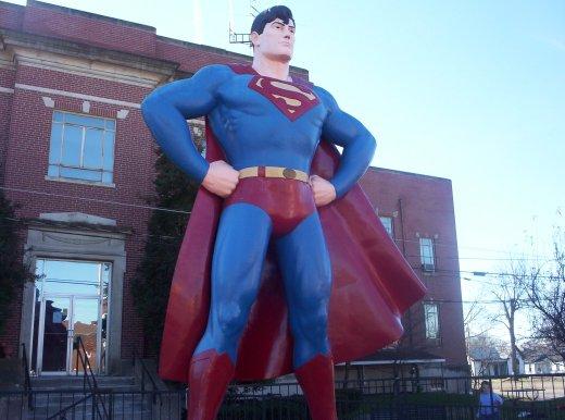 """Métropolis """"ville natale de Superman"""", Illinois, USA Metrop10"""