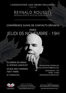 Conférence suivi de contacts avec les défunts par Reynald Roussel  Mydium10