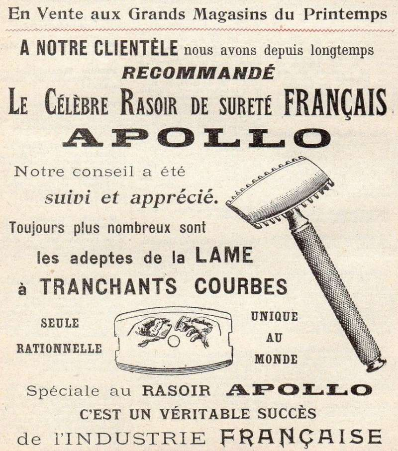 apollo, 3 petits papiers des années 1910/1915 Rasoir10