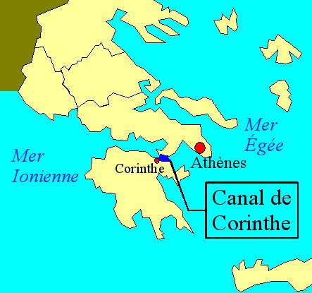 Canal de Corinthe GRECE Carte_10