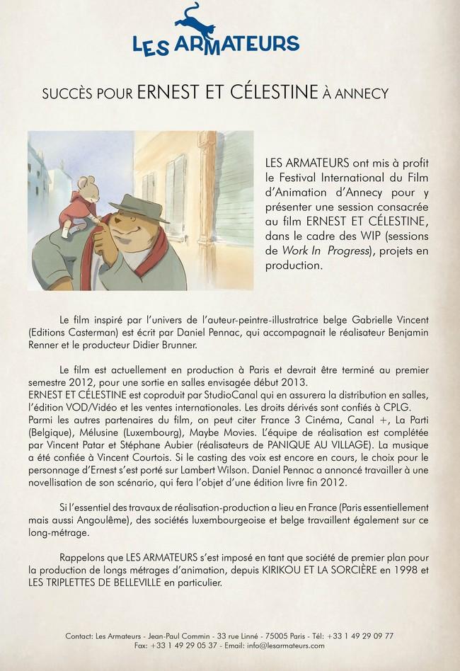 ERNEST ET CELESTINE - France/Belg/Lux - 12 décembre 2012 Ernest12