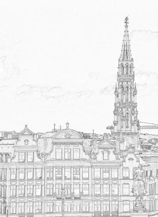 Créer un dessin à partir d'une photo (façon rapide) Bruxel15