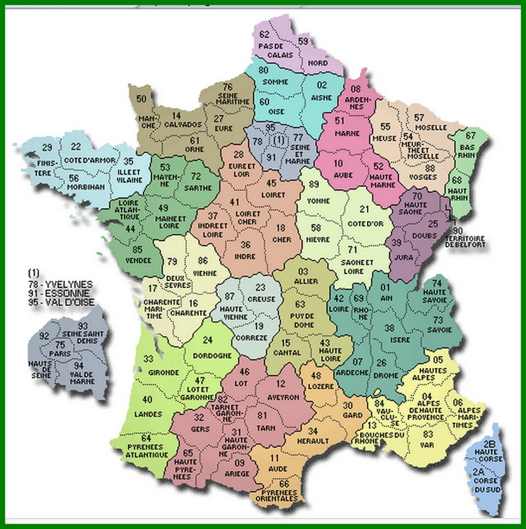 Carte des départements de France métropolitaine Carte_11