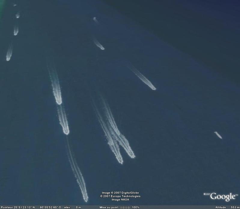 Les courses de bateaux dans Google Earth Race10