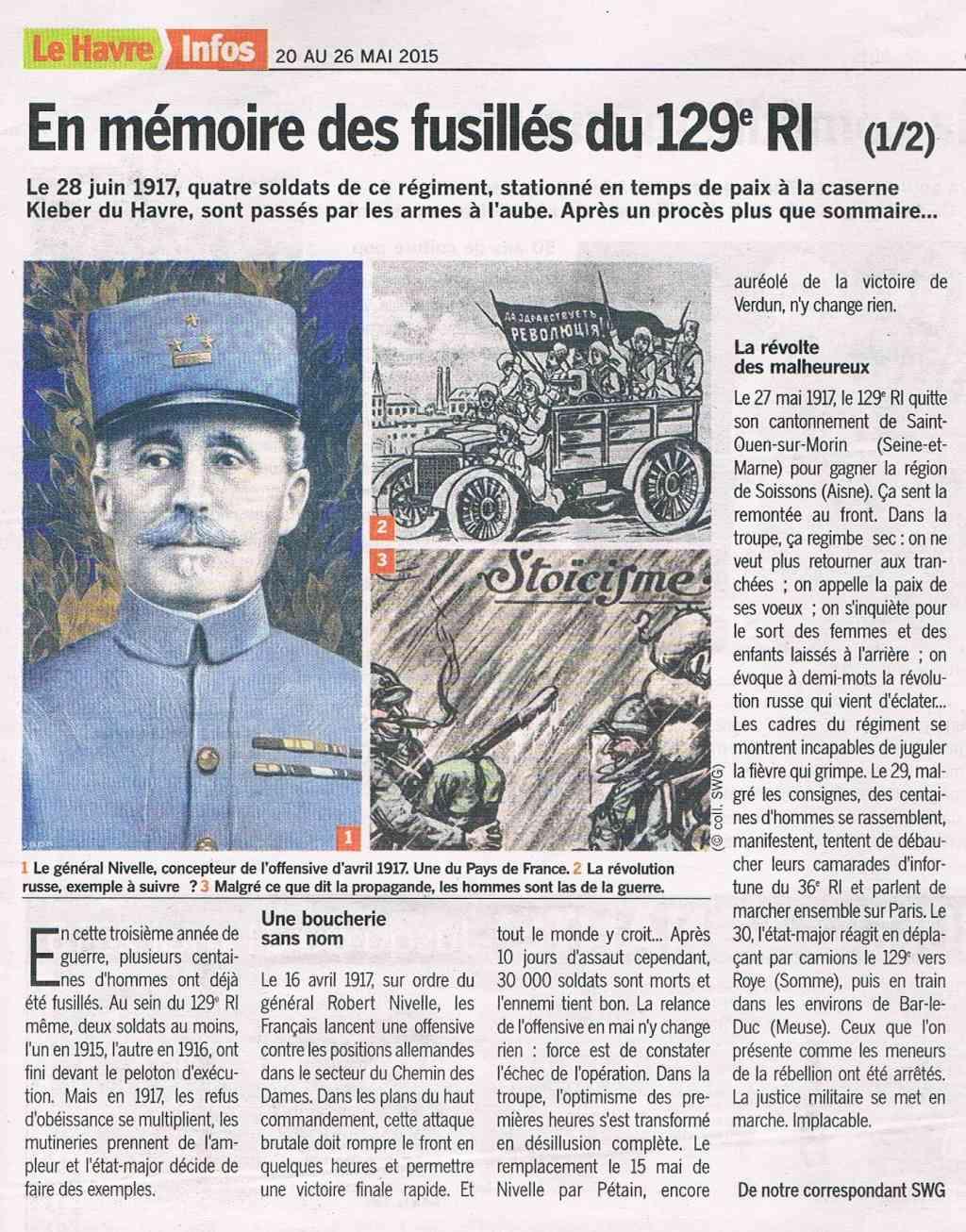 lefrançois - Mémoire des fusillés du 129 RI Mymoir10