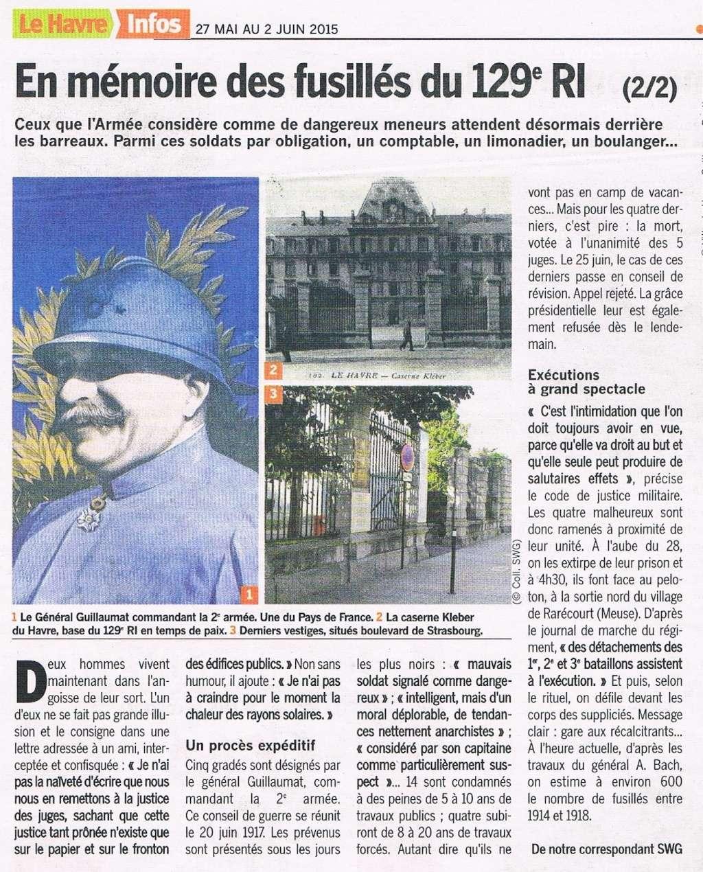 lefrançois - Mémoire des fusillés du 129 RI Mymoir11