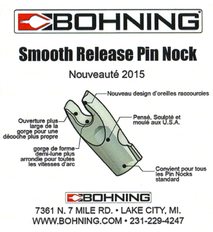 "Bohning pin nock ""smooth release"" Encoch10"