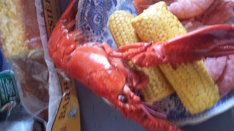 le homard!  tout ds la foto! mdr j 20150817