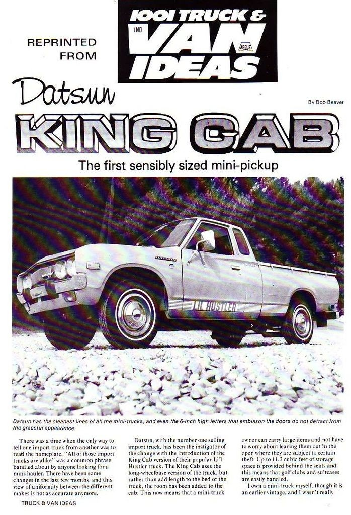 Topic OFFICIEL DATSUN PICK UP 620 HUSTLER 2WD & 4WD Scan1010