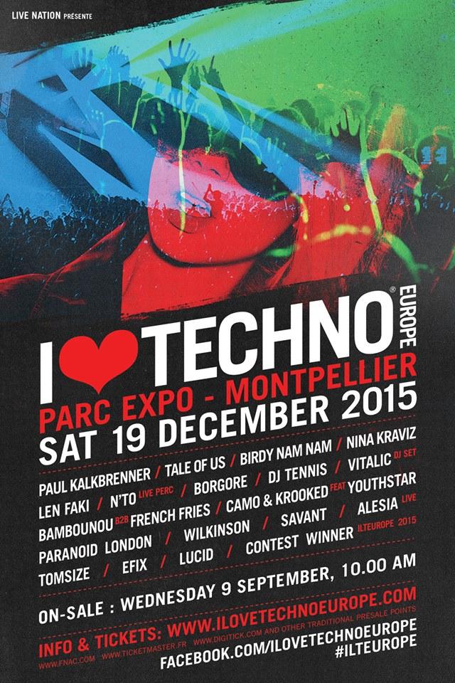 [ I LOVE TECHNO EUROPE - 19 Decembre 2015 - Parc des Expos - Montpellier ]   11885210