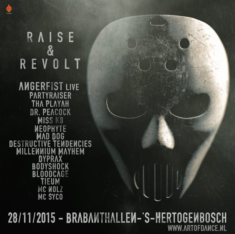 [ ANGERFIST - Raise & Revolt - 28 Novembre 2015 - Brabanthallen - Den Bosch - NL ] Lineup11