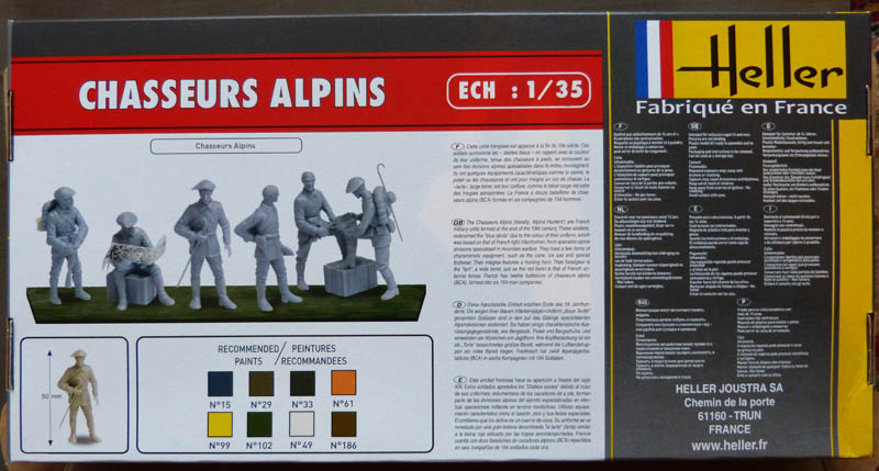 [HELLER] Chasseurs Alpins - 1/35. Chasse11