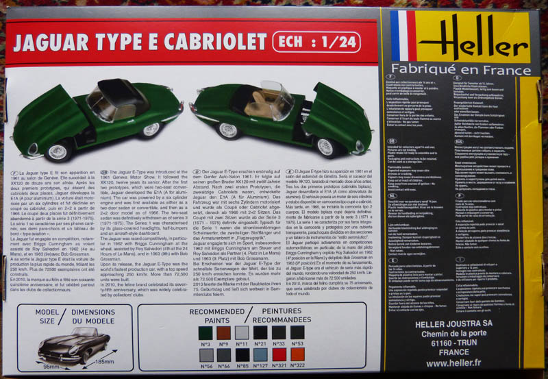 JAGUAR Type E Cabriolet  1/24ème Réf 80719 Jaguar11