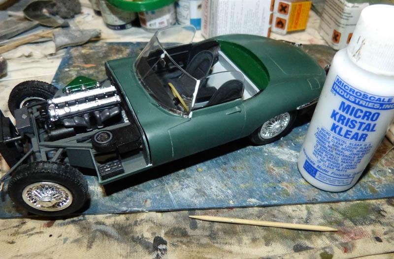 JAGUAR Type E Cabriolet - 1/24. Jaguar73