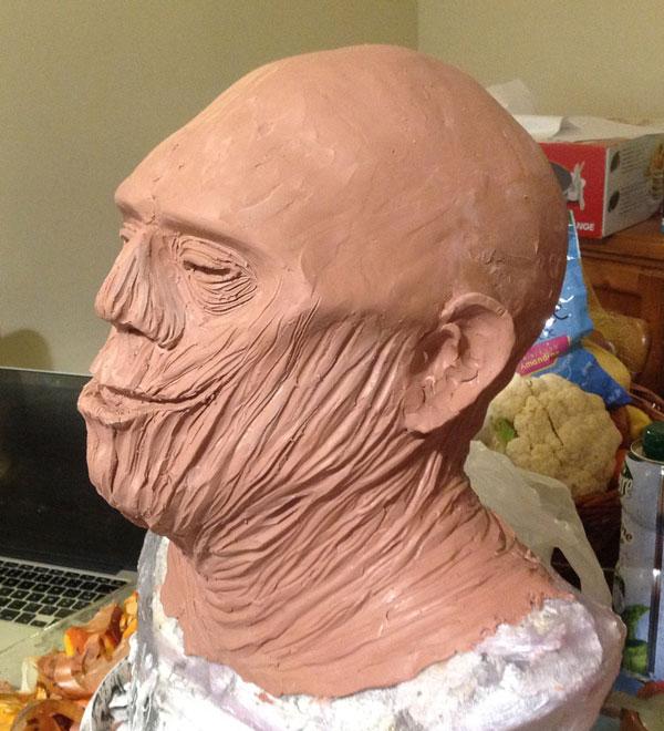 Sculpture momie en Chavant Momiep11